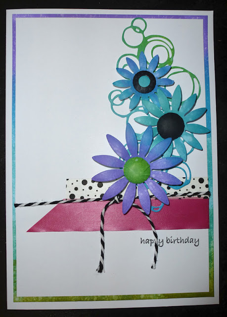 Happy Birthday simple flower card