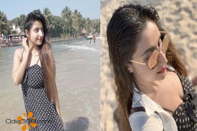 Hot Odia Actress Debjani Deghuria in Goa Beach Vlog Video