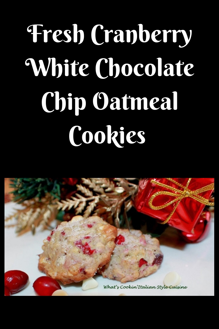 this is how to make a fresh cranberry white chocolate chip oatmeal cookie. The cookies are bursting with white chocolate and shouts fall flavors. The perfect Christmas cookie for holiday.