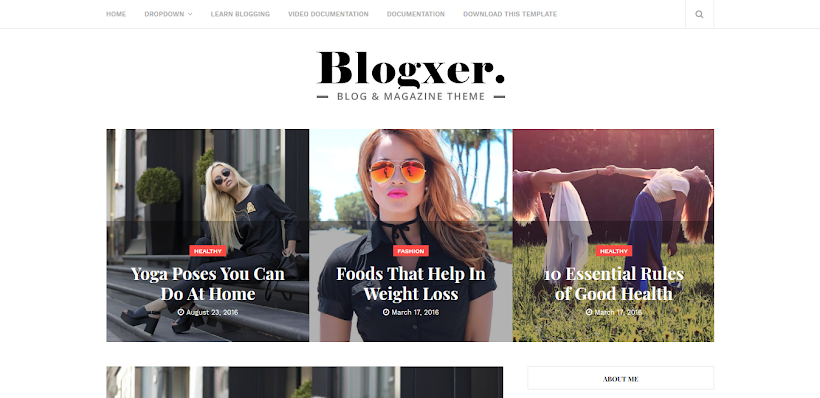 Blogxer Free Blogger Template