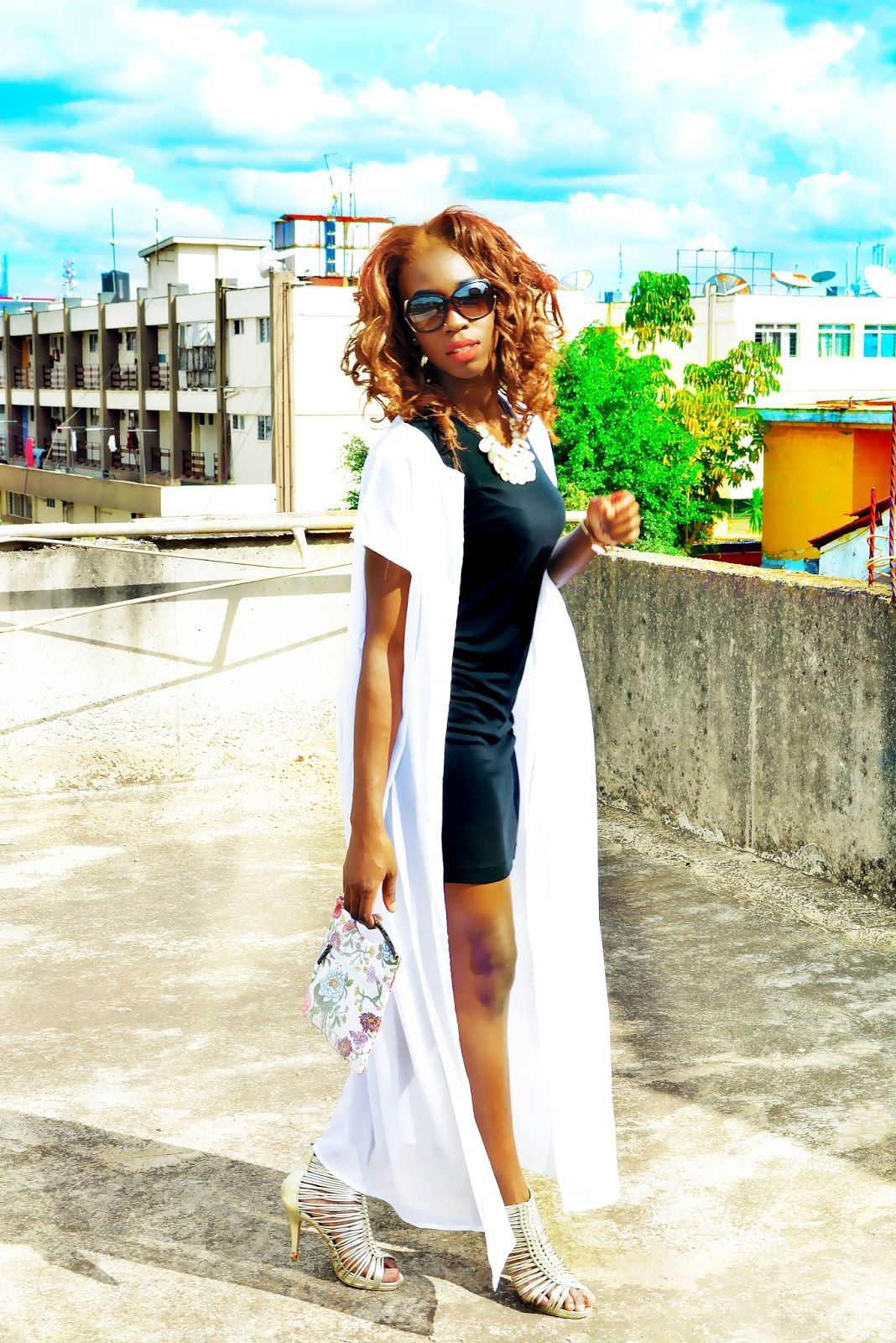 date look, little black dress, duster top, style with ezil, Ezil, african fashion blogger, kenyan fashion blogger