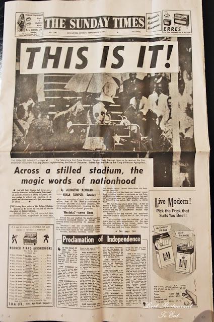 Original Newspaper Edition Merdeka 1957