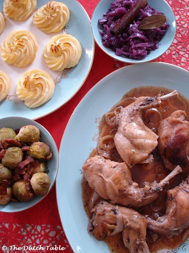 Dutch Christmas Food.The Dutch Table Kerstkonijn
