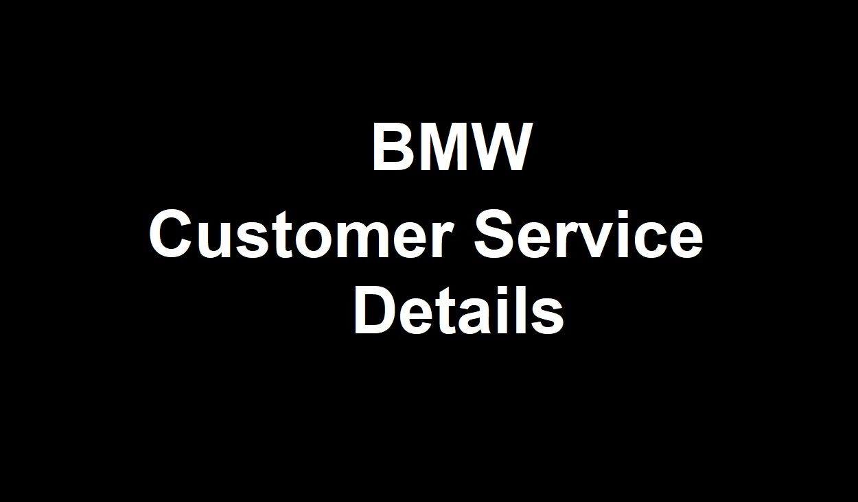 BMW Customer Service Number