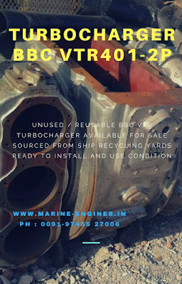 used, unused, Turbocharger, Turboz, BBC VTR 401-2P, ship machine, recondition, for sale, supplier, available, in stock