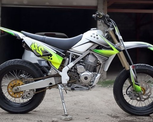 Modifikasi klx 150 supermoto motor kawasaki buat adventure