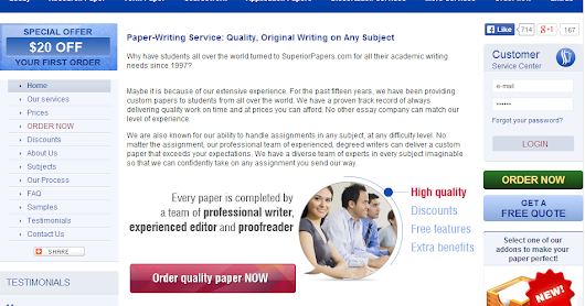 Five reviews of great US based essay writing services