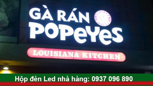 hộp đèn led quảng cáo nhà hàng