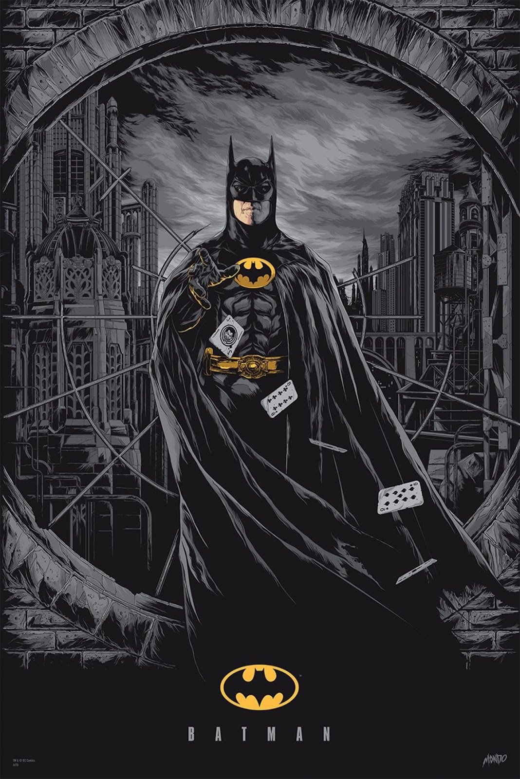 32e7a896cb0f MondoCon Exclusive Batman  89 Metallic Variant Screen Print by Ken Taylor