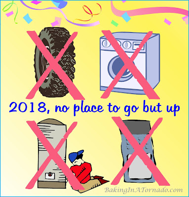 No place to go but up, a new year a new chance for good luck | www.BakingInATornado.com | #MyGraphics #humor