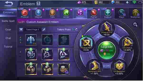 Ini Penting Banget, Pengetahuan Tentang Pembaharuan Sistem Emblem Mobile Legend