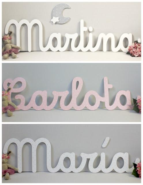 letras y nombres para decoración habitación infantil