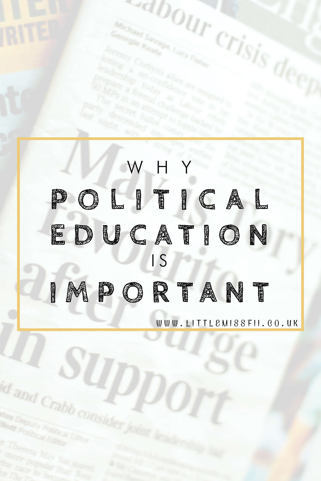 Brexit and the need for political education and engagement