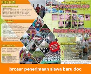 brosur penerimaan siswa baru doc