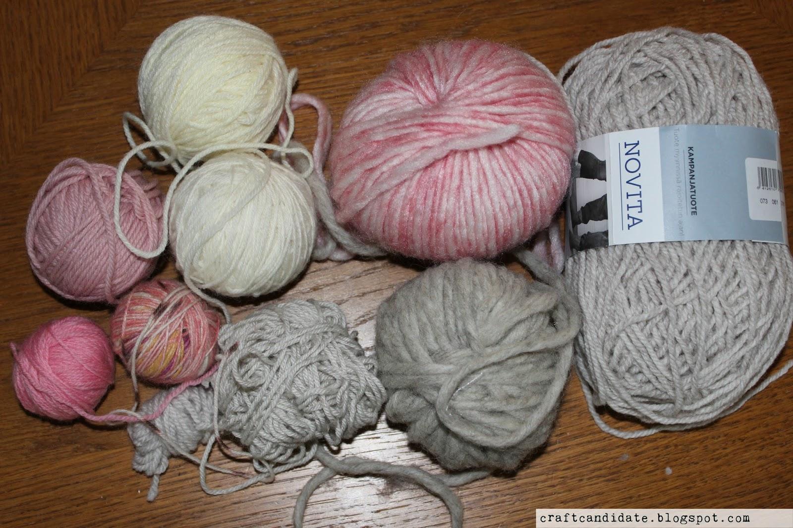 scrap yarn, leftover yarn