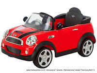 Mobil Mainan Aki Junior W446 Mini Cooper - Produced under license of BMW AG
