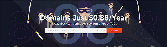 Domain Just $0.88/Year