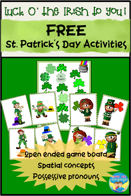 Free St. Patrick's Day activities at Looks Like Language!