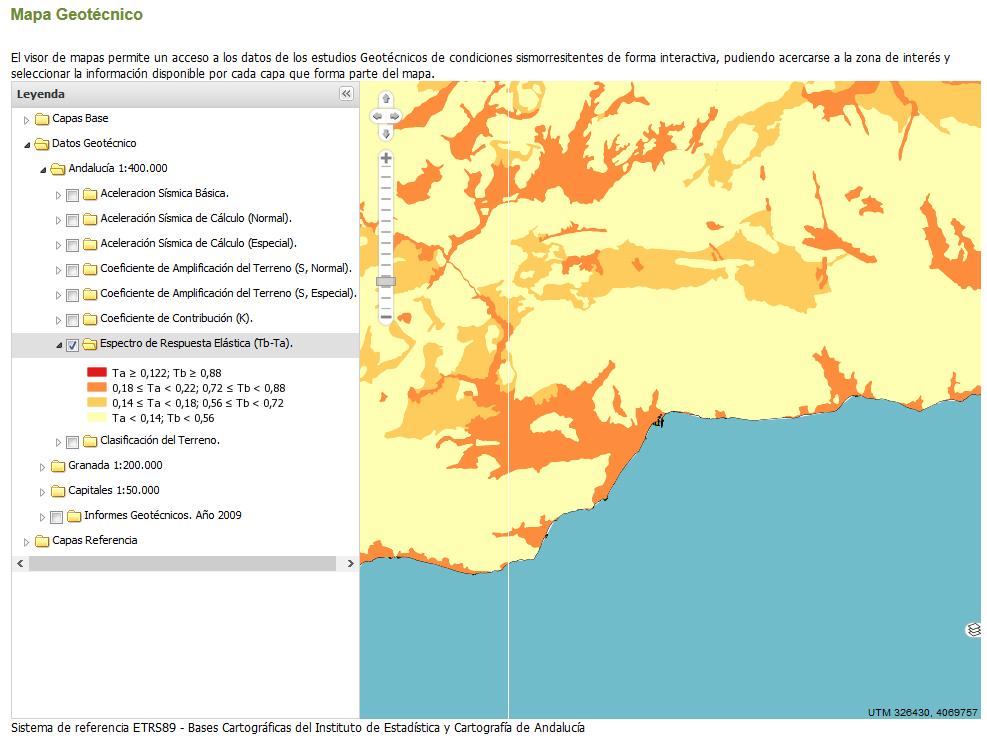 2g asesoramiento tcnico Mapas geotcnicos interactivos de Andaluca
