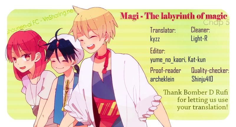 Magi The Labyrinth of magic chapter 6 trang 1