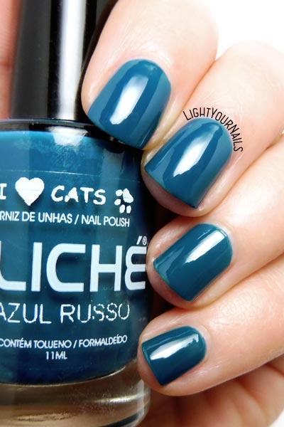 Smalto blu Clichè Azul Russo blue nail polish #nails #unghie #cliche #lightyournails