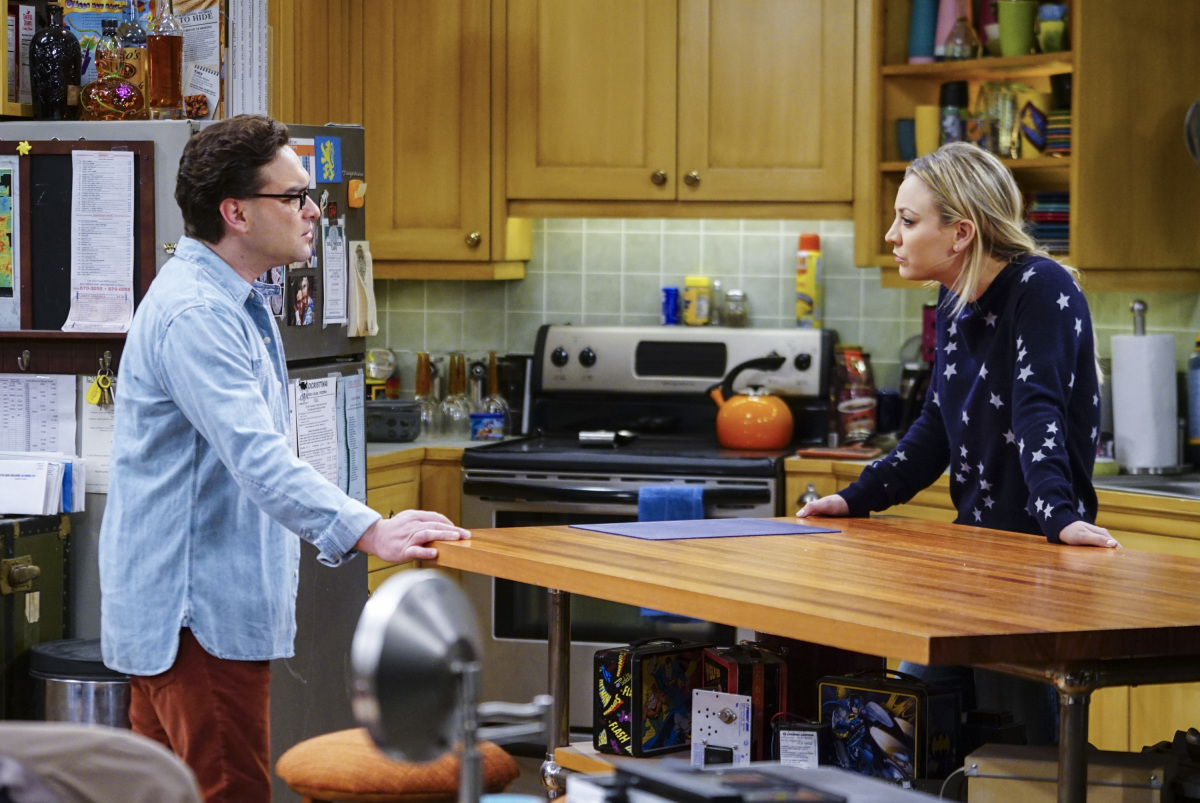 Leonard y Penny en The Big Bang Theory 10x13