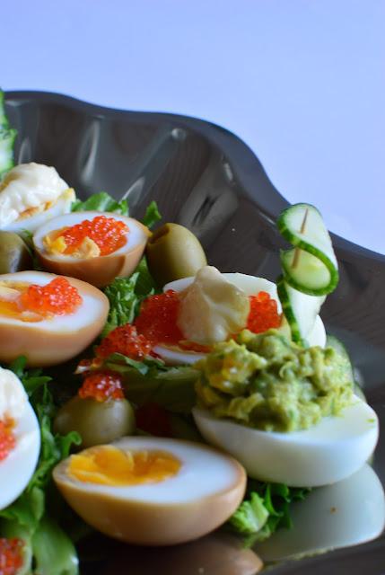 soijamarinoidut kananmunat