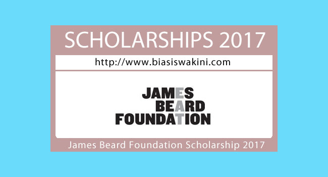 James Beard Foundation Scholarship 2017