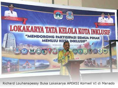 Richard Louhenapessy Buka Lokakarya APEKSI Komwil VI di Manado