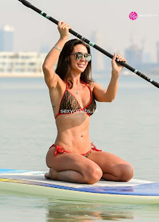 Danielle Lloyd ultra  body huge    in tiny bikini WOW Beach Side  Pics Celebs.in Exclusive 015