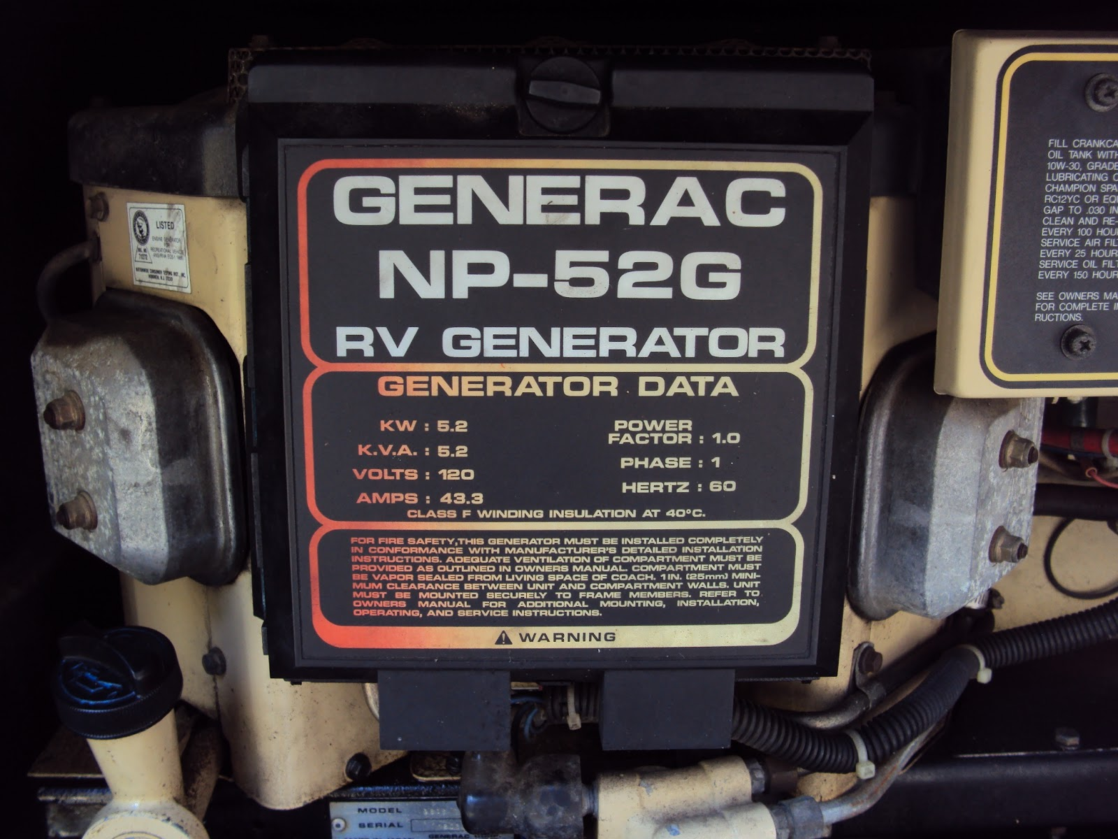 generac rv generator wiring diagram single phase capacitor start run motor np 52g trouble the laptop junction