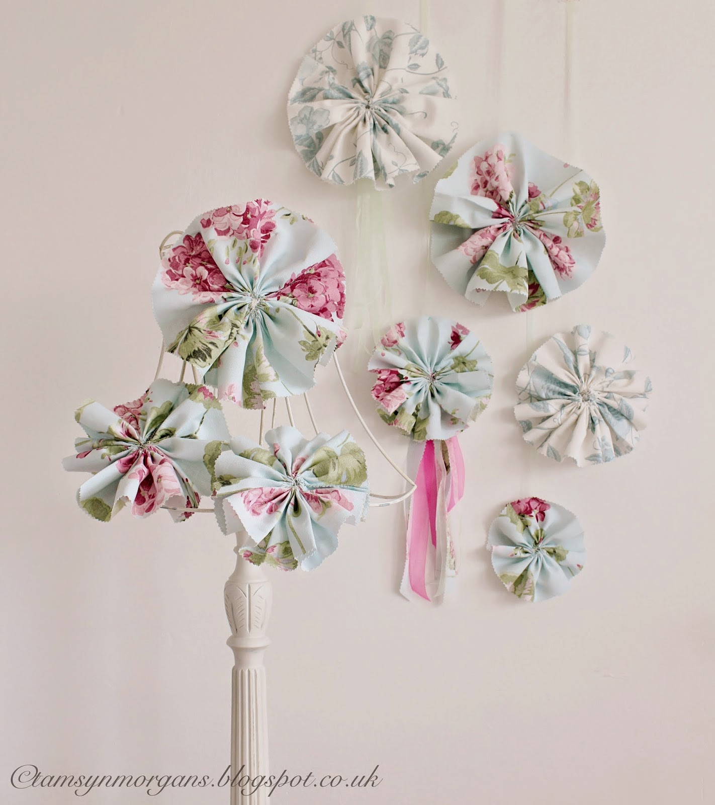 Fabric Rosette Tutorial-Laura Ashley Sew & Stitch Challenge