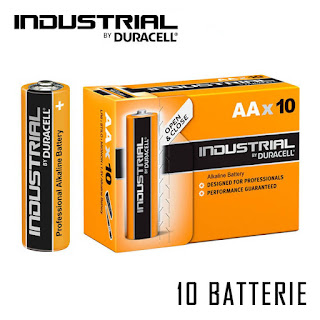 pile duracell industrial 10 pezzi stilo aa