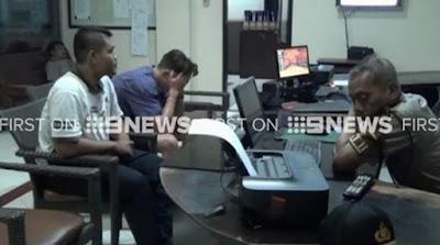 Murphy was taken to Denpasar police station. (9NEWS)