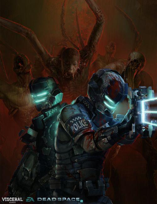 Bjorn Hurri ilustrações artes conceituais fantasia games Deadspace 2