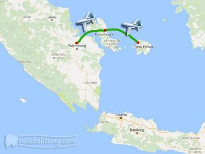 Penerbangan Belitung-Bangka-Palembang