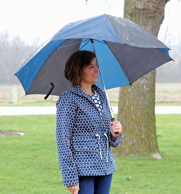 Style Maker Fabrics Spring 2017 tour - rayon challis blouse in McCall's 7542 and Polka Dot Twill  Lone Tree Jacket