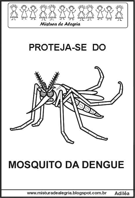 desenhos para colorir do mosquito da dengue