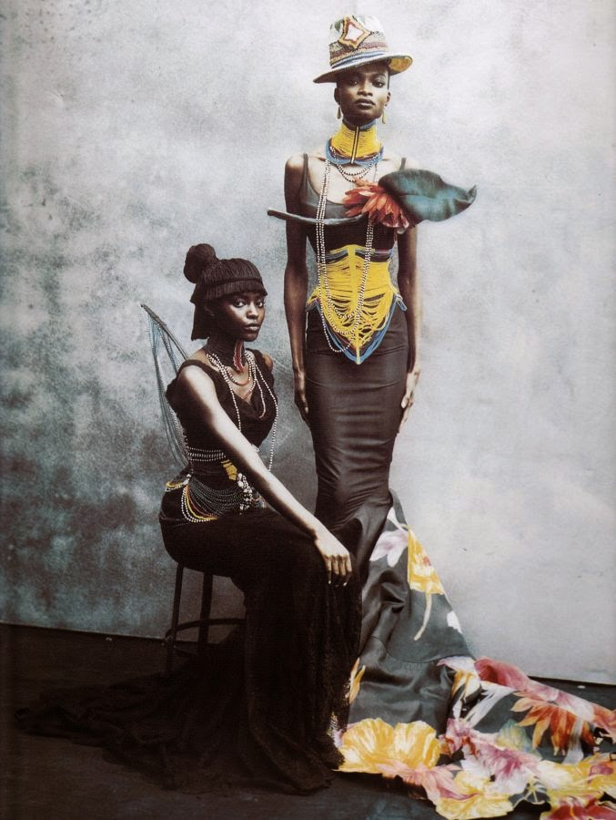 Debra Shaw and Kiara Kabukuru by Peter Lindbergh for Vogue Italia (March 1997) | Ses Rêveries