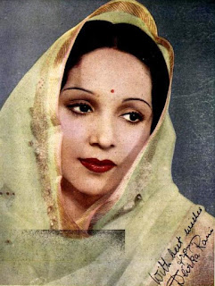 Autographed photo of Devika Rani in 1940