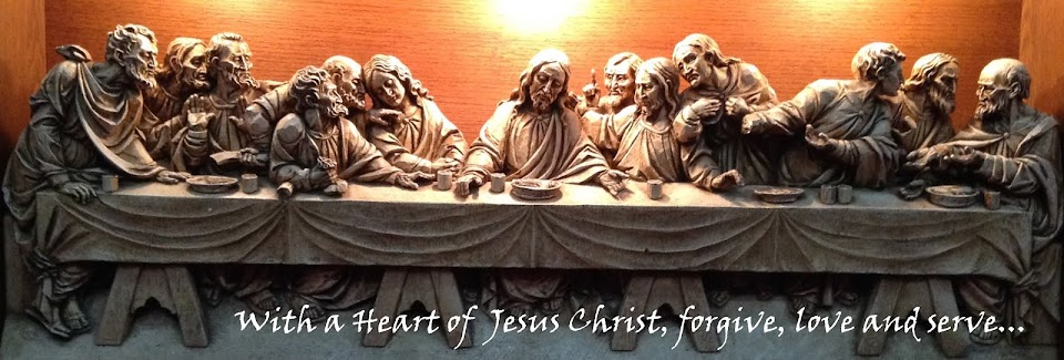 With the Heart of Jesus Christ....