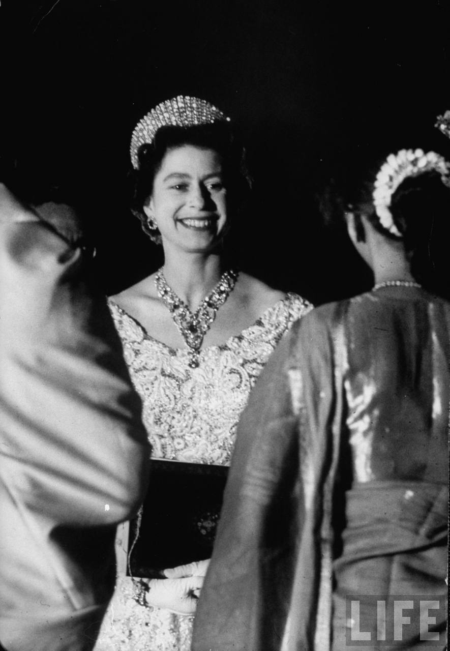 Queen Elizabeth II at reception.
