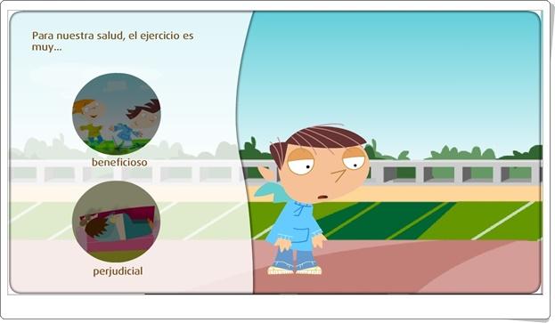 """""""El ejercicio físico y la salud"""" (Juego de Ciencias Naturales de Primaria)"""