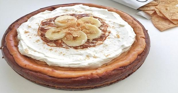 Dulce De Leche Banana Cheesecake With Churro Cabo Chips Recipe
