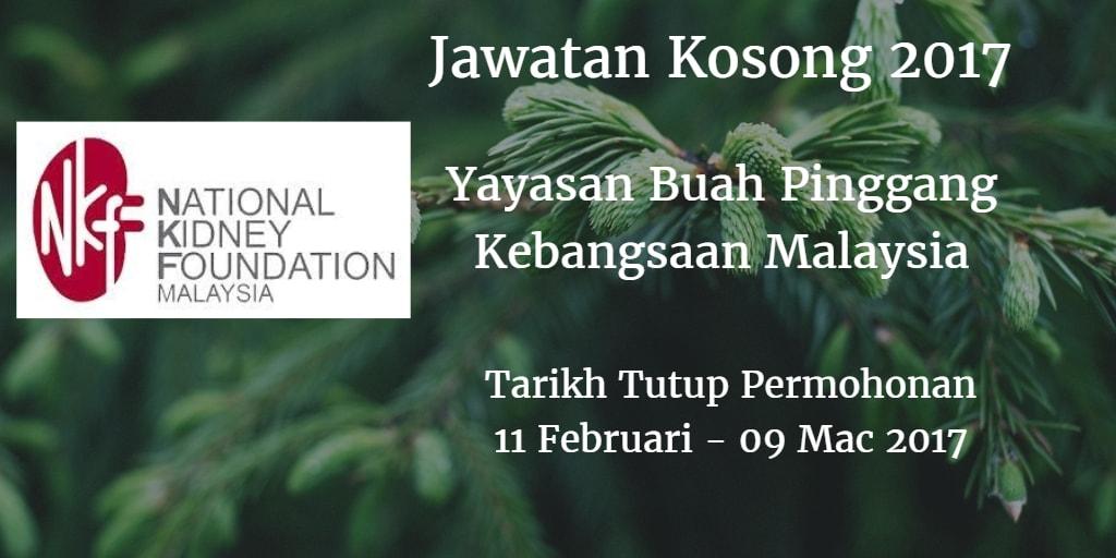 Jawatan Kosong NKF 11 Februari - 09 Mac 2017