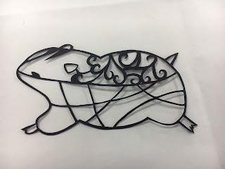 切り絵の線の太さを整える前の図