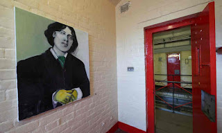 Oscar Wilde by Marlene Dumas at Inside, Artangel, Reading Jail 2016