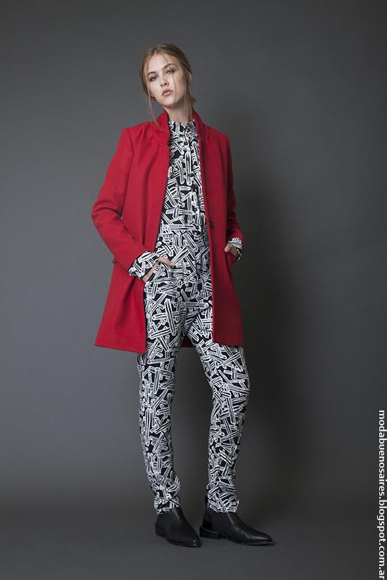 Sacos, tapados y monos moda invierno 2016. Moda 2016.