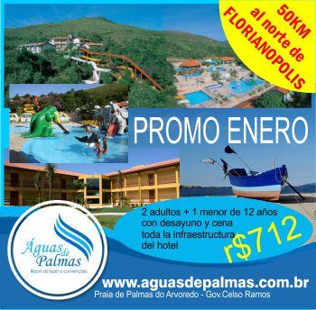 Aguas de Palmas promocion Brasil barato Florianopolis Santa Catarina Hotel all inclusive Gov Celso Ramos