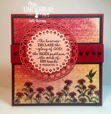 Our Daily Bread Designs Stamp Set: God Verses 2, Paper Collection: Blooming Garden, Custom Dies: Filigree Circles
